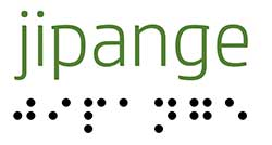 jipange written on both braille and alphabets